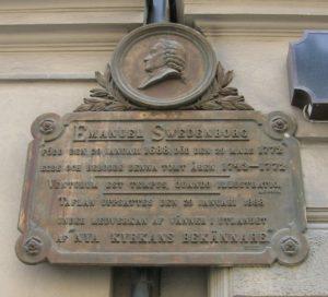 瑞登堡在瑞典斯德哥尔摩家前的纪念牌