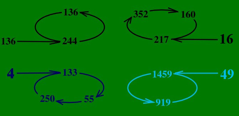 两个三元循环数根和两个二元循环数根