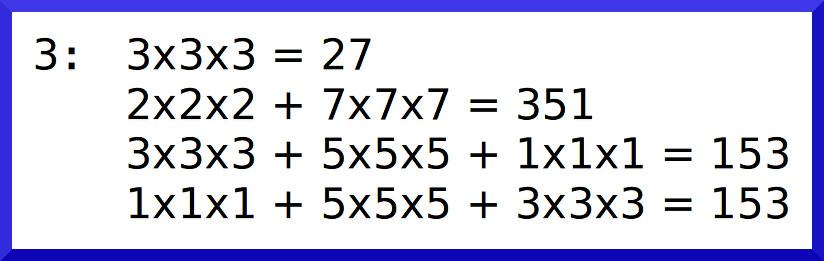數字3的數根是153