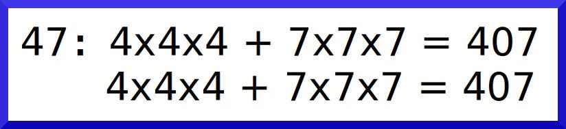 數字47的數根是407