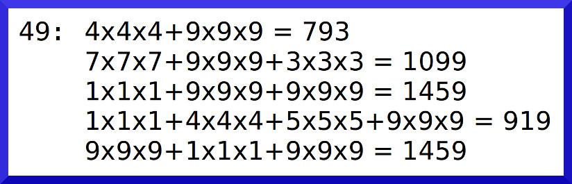 數字49的數根是二元循環數根(1459_919)